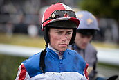 June 10th 2017, Chester Racecourse, Cheshire, England; Chester Races Horse racing Jockey Kieran Shoemark after his ride on Red Tycoon inn the Whitley Neill Gin Stakes