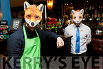 Samuel Brzyskiewicz and Peter Deyer enjoying a Foxy moment in Charlie Foxes Bar in the Imperial Hotel on Sunday.