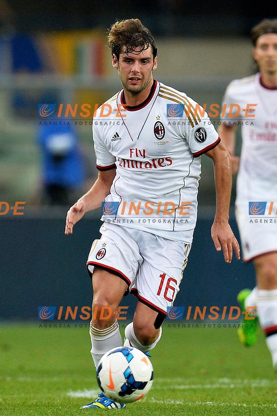 Andrea Poli Milan <br /> Verona 24/8/2013 Stadio Bentegodi <br /> Football Calcio Serie A<br /> Verona - Milan <br /> Foto Andrea Staccioli Insidefoto