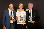NELSON, NEW ZEALAND - NOVEMBER 21: Lifetime Contribution Award Don Carter Lawn Bowls(L) Maree Smith Netball and Shane Drummond ASB Sports Awards 2019 Thursday 21 November 2019 at Victory, New Zealand. (Photo by Evan Barnes/Shuttersport Limited)
