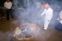 Q'eqchi Maya shaman performing a religious ceremony, Candelaria Caves, Alta Verapaz, Guatemala.