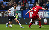 Bolton Wanderers' Yanic Wildschut competing with Walsall's Nicky Devlin<br /> <br /> Photographer Andrew Kearns/CameraSport<br /> <br /> Emirates FA Cup Third Round - Bolton Wanderers v Walsall - Saturday 5th January 2019 - University of Bolton Stadium - Bolton<br />  <br /> World Copyright &copy; 2019 CameraSport. All rights reserved. 43 Linden Ave. Countesthorpe. Leicester. England. LE8 5PG - Tel: +44 (0) 116 277 4147 - admin@camerasport.com - www.camerasport.com