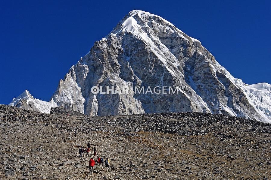 Montanhas da Cordilheira do Himalaia. Nepal. 2010. Foto de Caio Vilela.