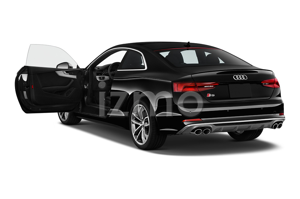 Car images close up view of a 2018 Audi S5 Premium Plus 2 Door Coupe doors
