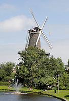 Nederland Leiden  2016  06 24 . Molen de Valk. De  Valk is een stellingmolen en tegewoordig een museum.   Foto Berlinda van Dam / Hollandse  Hoogte