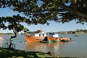 Ilheus, Bahia State, Brazil. Fishing boats in the Bahia de Pontal.