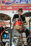 Dream Mall, Kaohsiung -- Drummer Cody Byassee of BoPoMoFo.