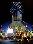 Exterior views of the Grand Lisboa Casino and Hotel in Macau China.  The property is the host venue for the APPT Macau Poker Festival.