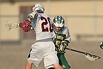 Palos Verdes, CA 03/23/10 - Nate Parke (PV # 20) and Unknown Mira Costa player in action during the Mira Costa-Palos Verdes Junior Varsity game at Palos Verdes High School, Palos Verdes defeated Mira Costa.