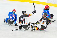 19th November 2019, Berlin, Germany. World Para Ice Hockey Championships, Germany versus Great Britain;   Goal scored for Germany by SCHRADER Felix ERC