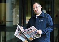 2017 09 15 Herald newspaper editor Thomas Sinclair appears at Swansea Crown Court, Wales, UK