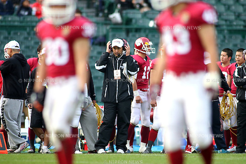 "Akira Yonekura, DECEMBER 13, 2015 - American Football : All Japan American Football college Championship final match ""Koshien Bowl"" between Waseda University ""Big Bears"" 27 - 28 Ritsumeikan University ""Panthers"" at Koshien Stadium in Hyogo, Japan. (Photo by AFLO)"