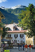 Bad Hofgastein, Salzburgerland, Austria, September 2009. The town center of Bad Hofgastein. Photo by Frits Meyst