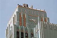 Los Angeles: Eastern Building (or Eastern Columbia) --Top. Claude Beelman 1929. Photo '89.