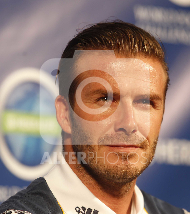 Real Madrid first train at pre season stage in Los ANgeles, California on July 12th 2011. David Beckham...Photo: Tresmu / ALFAQUI
