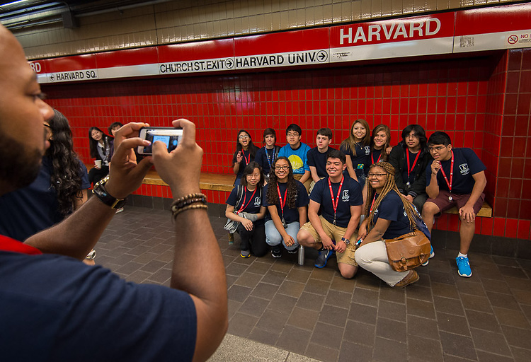 Houston ISD EMERGE students tour Harvard, June 3, 2014.