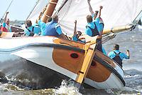 SKUTSJESILEN: WOUDSEND: 29-07-2013, SKS skûtsjesilen, Skûtsje Bolsward tweede, ©foto Martin de Jong