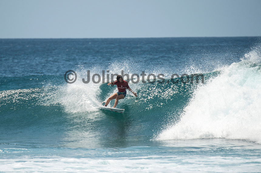 Four Seasons,Kuda Huraa, Maldives (Friday, August 7, 2015) Sofia Mulanovich (PER).  The worlds 'most luxurious surfing event,' the Four Seasons Maldives Surfing Champions Trophy continued today  at the famed 'Sultans Point' with the Thruster Round.The swell was out of the South East  with waves in the 4'-6' range.  Neco Padaratz (BRA) and Shane Dorian (HAW) fought out the tough final with Dorian scoring a perfect 10 point ride for a deep barrel and the win.  Photo: joliphotos.com