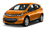 2018 Chevrolet Bolt EV LT 5 Door Hatchback angular front stock photos of front three quarter view