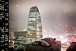 Tokyo, Shinjuku. The Mode Gakuen Cocoon Tower by Tange Associates, build in 2008.
