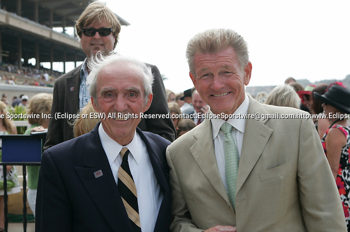 25 July 2009: Pierre Bellocq and Del Mar President Joe Harper at Del Mar Race Track, Del Mar, CA
