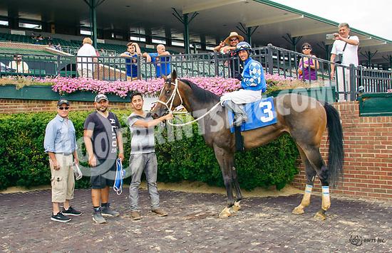 Three Beans winning at Delaware Park on 7/22/17
