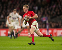 Wales' Gareth Anscombe<br /> <br /> Photographer Bob Bradford/CameraSport<br /> <br /> NatWest Six Nations Championship - England v Wales - Saturday 10th February 2018 - Twickenham Stadium - London<br /> <br /> World Copyright &copy; 2018 CameraSport. All rights reserved. 43 Linden Ave. Countesthorpe. Leicester. England. LE8 5PG - Tel: +44 (0) 116 277 4147 - admin@camerasport.com - www.camerasport.com