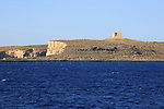 Island of Comino from the sea, Malta