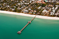 Scenic flight over historic Naples Fishing Pier and Marco Island along the Gulf of Mexico, Southwest Florida, USA. Feb. 21, 2010. Photo by Debi Pittman Wilkey
