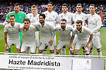 Real Madrid's team photo with Keylor Navas, Toni Kroos, Raphael Varane, Alvaro Morata, Pepe, Cristiano Ronaldo, Lucas Vazquez, Mateo Kovacic, Isco Alarcon, Daniel Carvajal and Nacho Fernandez during La Liga match. February 18,2017. (ALTERPHOTOS/Acero)