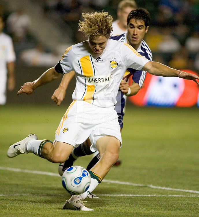 LA Galaxy DEF Chris Albright (5) in action.  The LA Galaxy defeated the New York Red Bulls 3-1 in OT during a US Open Cup qualifier at the Home Depot Center in Carson, California, May 8, 2007.