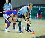 Almere - Zaalhockey  SCHC-Laren  . Pieter Paul Houting (laren)   TopsportCentrum Almere.    COPYRIGHT KOEN SUYK