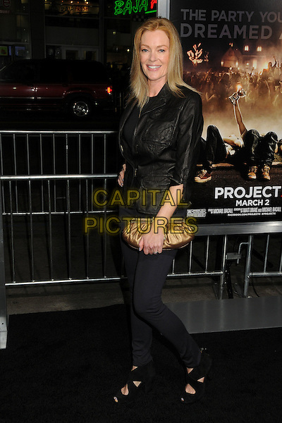 "Caitlin Dulany.""Project X"" Los Angeles Premiere held at Grauman's Chinese Theatre, Hollywood, California, USA..February 29th, 2011.full length black jacket jeans denim gold clutch bag top.CAP/ADM/BP.©Byron Purvis/AdMedia/Capital Pictures."
