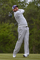 Sergio Garcia (ESP) watches his tee shot on 15 during Round 2 of the Valero Texas Open, AT&amp;T Oaks Course, TPC San Antonio, San Antonio, Texas, USA. 4/20/2018.<br /> Picture: Golffile | Ken Murray<br /> <br /> <br /> All photo usage must carry mandatory copyright credit (&copy; Golffile | Ken Murray)