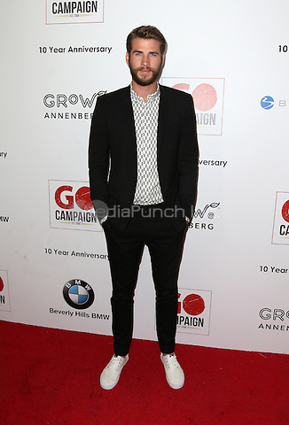 Los Angeles, CA - NOVEMBER 05: Liam Hemsworth at The 10th Annual GO Campaign Gala in Los Angeles At Manuela, California on November 05, 2016. Credit: Faye Sadou/MediaPunch