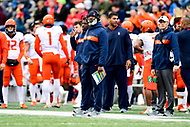 College Park, MD - OCT 27, 2018: Illinois Fighting Illini head coach Lovie Smith on the sidelines during game between Maryland and Illinois at Capital One Field at Maryland Stadium in College Park, MD. The Terrapins defeated Illinois to move to 5-3 on the season. (Photo by Phil Peters/Media Images International)