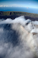 France, île de la Réunion, Parc national de La Réunion, classé Patrimoine Mondial de l'UNESCO, volcan du Piton de la Fournaise, le cratère Dolomieu (vue aérienne) // France, Reunion island (French overseas department), Parc National de La Reunion (Reunion National Park), listed as World Heritage by UNESCO, Piton de la Fournaise volcano, Dolomieu crater (aerial view)