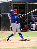 Alfonso Soriano / AZL Cubs performs in a rehab appearance against the AZL Padres in Peoria, AZ on 7/21/2008..Photo by:  Bill Mitchell/Four Seam Images