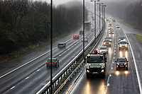 2017 12 20 Cars travel on the M4 motorway, Port Talbot, Wales, UK