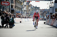 André Greipel (DEU/Lotto-Soudal) finishing his TT<br /> <br /> 3 Days of De Panne 2015<br /> stage 3b: De Panne-De Panne TT