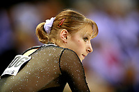 Oct 17, 2006; Aarhus, Denmark; Portrait is of Maryna Proskurina of Ukraine during women's gymnastics team competition at 2006 World Championships Artistic Gymnastics. Photo by Tom Theobald