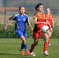 U 16 Belgian red Flames - virginia USA :<br /> <br /> Duel tussen Amber De Priester (R) en Kisaki Nicole Ray (L)<br /> <br /> foto Dirk Vuylsteke / Nikonpro.be