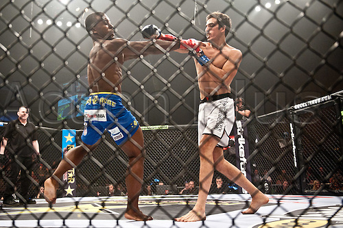 24.06.2011, Washinton, USA.   Jason High and Quinn Mulhern exchange blows during the STRIKEFORCE Challengers at the ShoWare Center in Kent, Washington. High won the fight in a unanimous decision.