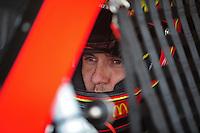 Sept. 20, 2008; Dover, DE, USA; Nascar Sprint Cup Series driver Elliott Sadler during practice for the Camping World RV 400 at Dover International Speedway. Mandatory Credit: Mark J. Rebilas-