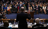 United States Senate Judiciary Committee Chairman Charles Grassley (Republican of Iowa), back to the camera, swears in Judge Neil Gorsuch during the first day of his Supreme Court confirmation hearing before the Senate Judiciary Committee in the Hart Senate Office Building on Capitol Hill March 20, 2017 in Washington, DC. Gorsuch was nominated by President Donald Trump to fill the vacancy left on the court by the February 2016 death of Associate Justice Antonin Scalia. <br /> Credit: Stephen Crowley / Pool via CNP