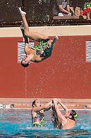 Stanford, CA; Saturday February 13 2016; Synchronized Swimming, Stanford vs Incarnate Word