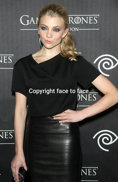 """NEW YORK, NY - MARCH 27: Natalie Dormer at the """"Game Of Thrones"""" The Exhibition New York Opening at 3 West 57th Avenue on March 27, 2013 in New York City...Credit: MediaPunch/face to face..- Germany, Austria, Switzerland, Eastern Europe, Australia, UK, USA, Taiwan, Singapore, China, Malaysia and Thailand rights only -"""