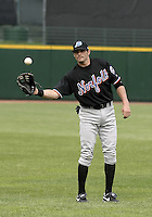 May 26, 2004:  Jeff Duncan of the Norfolk Tides, Triple-A International League affiliate of the New York Mets, during a game at Frontier Field in Rochester, NY.  Photo by:  Mike Janes/Four Seam Images