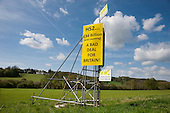 Anti-HS2 roadside posters in Buckinghamshire.