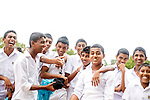 Sri Lanka selection<br /> School children visiting  Buddhist temple<br /> Picture by Gavin Rodgers/ Pixel8000<br />  07917221968
